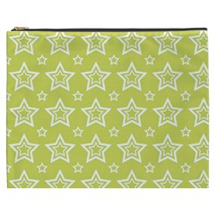Star Yellow White Line Space Cosmetic Bag (xxxl)  by Alisyart