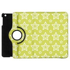Star Yellow White Line Space Apple Ipad Mini Flip 360 Case by Alisyart
