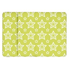 Star Yellow White Line Space Samsung Galaxy Tab 8 9  P7300 Flip Case by Alisyart
