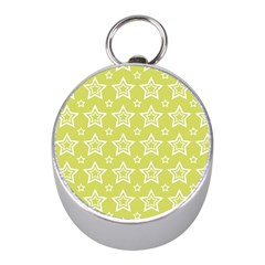 Star Yellow White Line Space Mini Silver Compasses