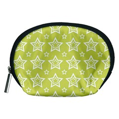 Star Yellow White Line Space Accessory Pouches (medium)  by Alisyart