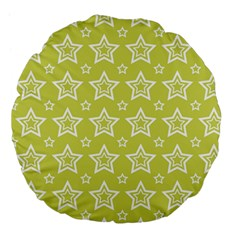 Star Yellow White Line Space Large 18  Premium Flano Round Cushions by Alisyart