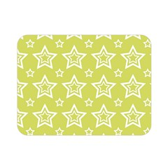 Star Yellow White Line Space Double Sided Flano Blanket (mini)  by Alisyart