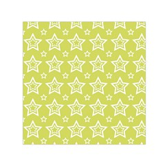 Star Yellow White Line Space Small Satin Scarf (square) by Alisyart