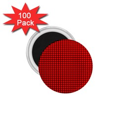 Red And Black 1 75  Magnets (100 Pack)  by PhotoNOLA