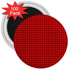 Red And Black 3  Magnets (100 Pack) by PhotoNOLA