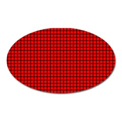 Red And Black Oval Magnet by PhotoNOLA