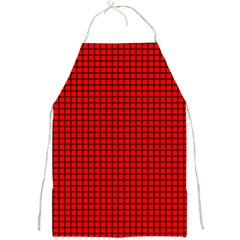 Red And Black Full Print Aprons by PhotoNOLA