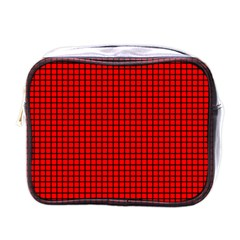 Red And Black Mini Toiletries Bags by PhotoNOLA