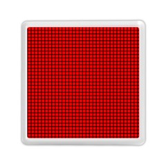 Red And Black Memory Card Reader (square)  by PhotoNOLA