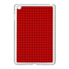 Red And Black Apple Ipad Mini Case (white) by PhotoNOLA