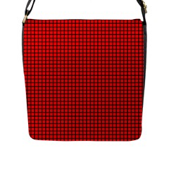 Red And Black Flap Messenger Bag (l)  by PhotoNOLA