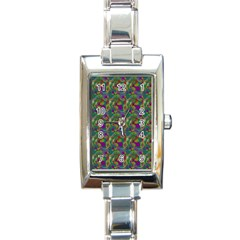 Pattern Abstract Paisley Swirls Rectangle Italian Charm Watch by Simbadda