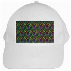 Pattern Abstract Paisley Swirls White Cap by Simbadda