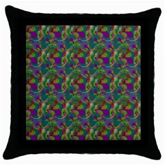 Pattern Abstract Paisley Swirls Throw Pillow Case (black) by Simbadda