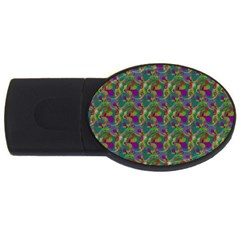 Pattern Abstract Paisley Swirls Usb Flash Drive Oval (4 Gb) by Simbadda