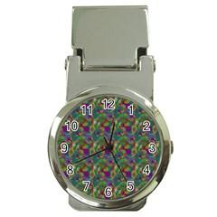Pattern Abstract Paisley Swirls Money Clip Watches by Simbadda
