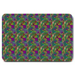 Pattern Abstract Paisley Swirls Large Doormat  by Simbadda