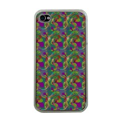Pattern Abstract Paisley Swirls Apple Iphone 4 Case (clear) by Simbadda