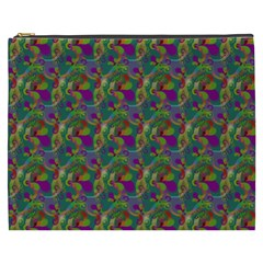 Pattern Abstract Paisley Swirls Cosmetic Bag (xxxl)  by Simbadda