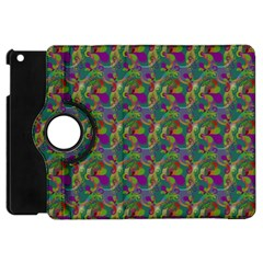 Pattern Abstract Paisley Swirls Apple Ipad Mini Flip 360 Case by Simbadda