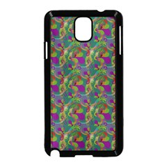 Pattern Abstract Paisley Swirls Samsung Galaxy Note 3 Neo Hardshell Case (black) by Simbadda