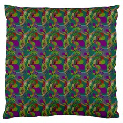 Pattern Abstract Paisley Swirls Standard Flano Cushion Case (two Sides) by Simbadda