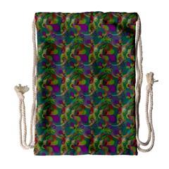 Pattern Abstract Paisley Swirls Drawstring Bag (large) by Simbadda