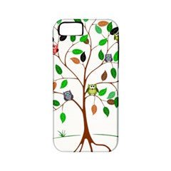 Tree Root Leaves Owls Green Brown Apple Iphone 5 Classic Hardshell Case (pc+silicone) by Simbadda
