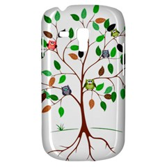 Tree Root Leaves Owls Green Brown Galaxy S3 Mini by Simbadda