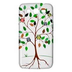 Tree Root Leaves Owls Green Brown Samsung Galaxy Mega 5 8 I9152 Hardshell Case  by Simbadda