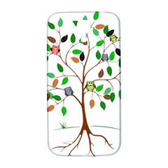 Tree Root Leaves Owls Green Brown Samsung Galaxy S4 I9500/i9505  Hardshell Back Case by Simbadda