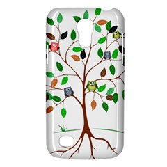 Tree Root Leaves Owls Green Brown Galaxy S4 Mini by Simbadda