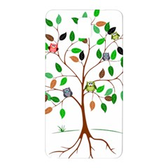 Tree Root Leaves Owls Green Brown Samsung Galaxy Note 3 N9005 Hardshell Back Case by Simbadda
