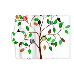 Tree Root Leaves Owls Green Brown Kindle Fire Hd (2013) Flip 360 Case by Simbadda