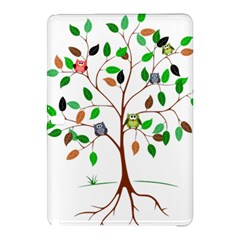 Tree Root Leaves Owls Green Brown Samsung Galaxy Tab Pro 12 2 Hardshell Case by Simbadda