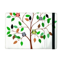 Tree Root Leaves Owls Green Brown Ipad Mini 2 Flip Cases by Simbadda