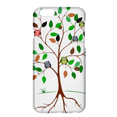 Tree Root Leaves Owls Green Brown Apple Iphone 6 Plus/6s Plus Hardshell Case by Simbadda