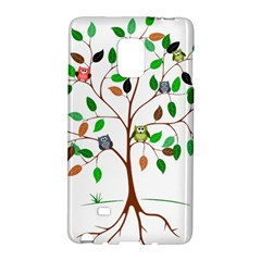 Tree Root Leaves Owls Green Brown Galaxy Note Edge by Simbadda