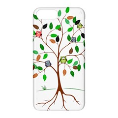 Tree Root Leaves Owls Green Brown Apple Iphone 7 Plus Hardshell Case by Simbadda