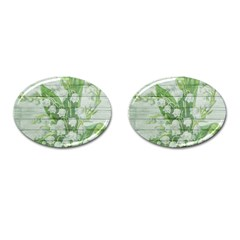 On Wood May Lily Of The Valley Cufflinks (oval) by Simbadda