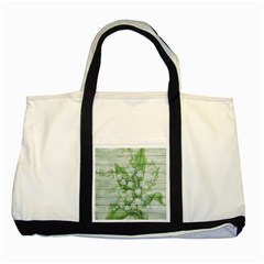 On Wood May Lily Of The Valley Two Tone Tote Bag by Simbadda