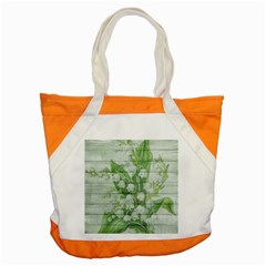 On Wood May Lily Of The Valley Accent Tote Bag