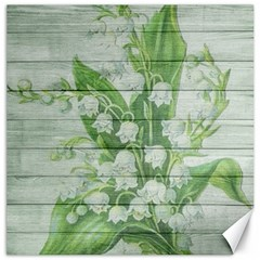 On Wood May Lily Of The Valley Canvas 20  X 20   by Simbadda