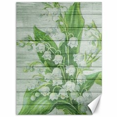 On Wood May Lily Of The Valley Canvas 36  X 48   by Simbadda
