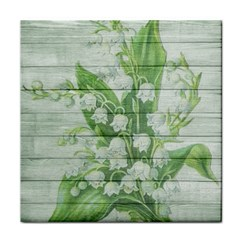 On Wood May Lily Of The Valley Face Towel