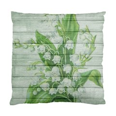 On Wood May Lily Of The Valley Standard Cushion Case (two Sides) by Simbadda