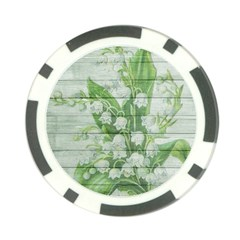 On Wood May Lily Of The Valley Poker Chip Card Guard (10 Pack) by Simbadda