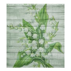On Wood May Lily Of The Valley Shower Curtain 66  X 72  (large)  by Simbadda