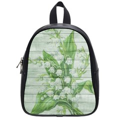 On Wood May Lily Of The Valley School Bags (small)  by Simbadda